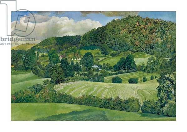 Landscape, Gloucestershire, 1940 (oil on canvas)