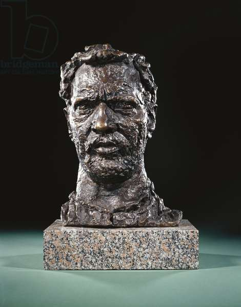 Self-Portrait with a Beard, 1920 (bronze with a brown patina)
