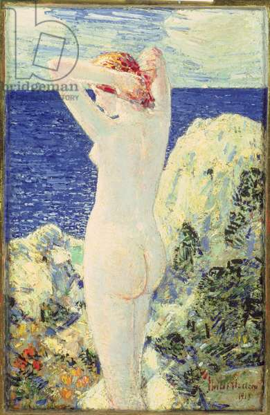The Bather, 1915 (oil on panel)