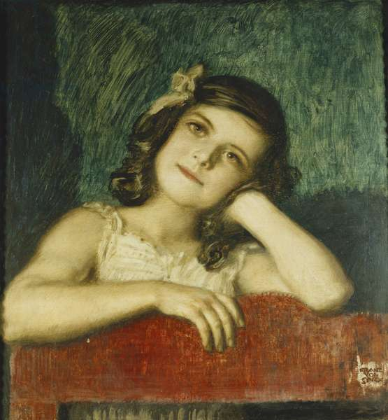 Portrait of Mary, the Artist's Daughter, (oil on panel)