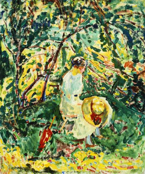 Woman in a Garden, c.1907 (oil on canvas)