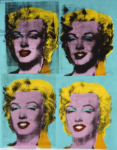 Four Marilyns, c.1962 (synthetic polymer silkscreened on canvas)