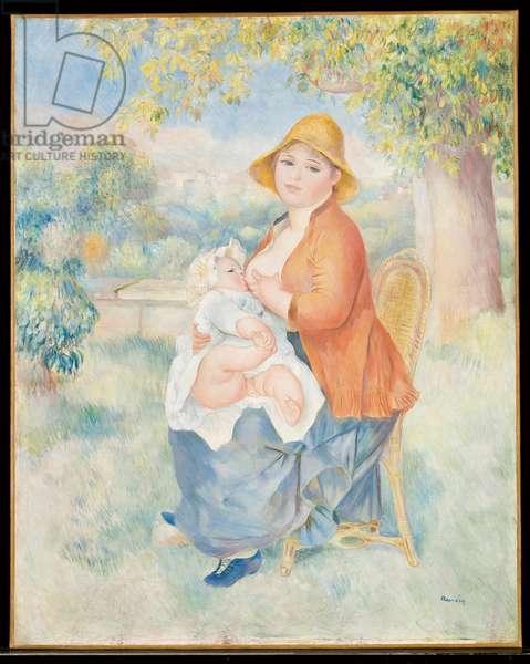 L'Enfant au sein, 1886 (oil on canvas)