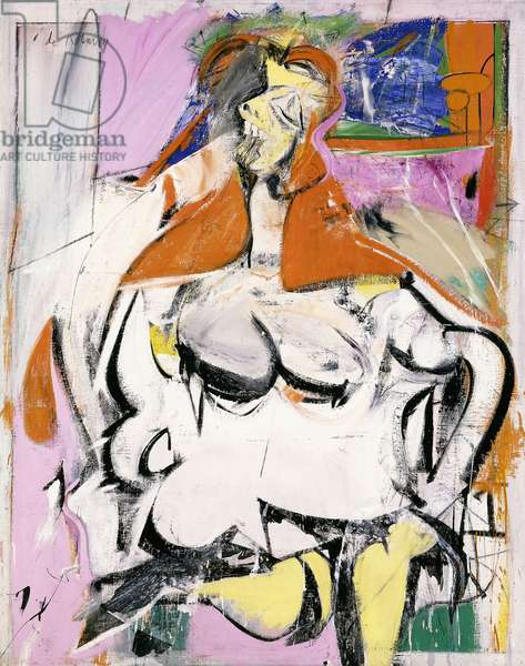 Woman, 1949 (oil, enamel and charcoal on canvas)