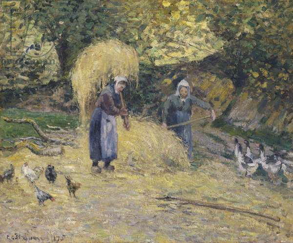 Peasants Heaving Straw, Montfoucault, 1875 (oil on canvas)