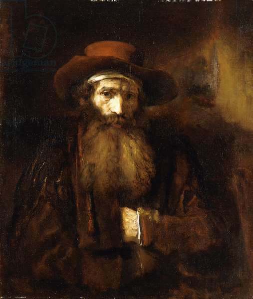 A Bearded Old Man, wearing a brown Coat and russet Hat, 1651 (oil on canvas)