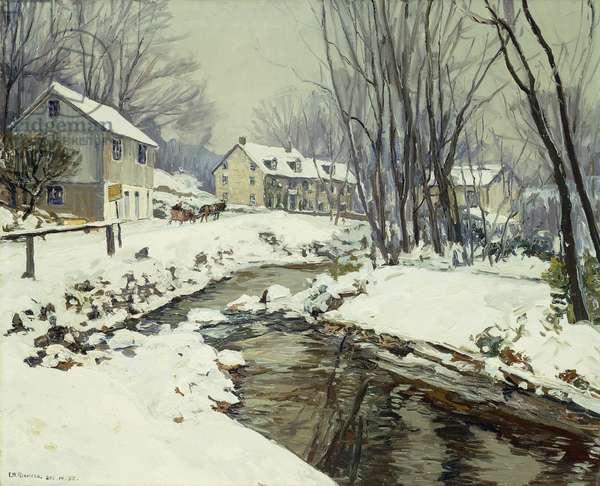 Lumberville, 1932 (oil on canvas)