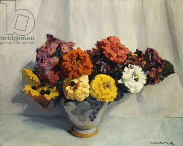 Still Life with Flowers,  (oil on canvas)