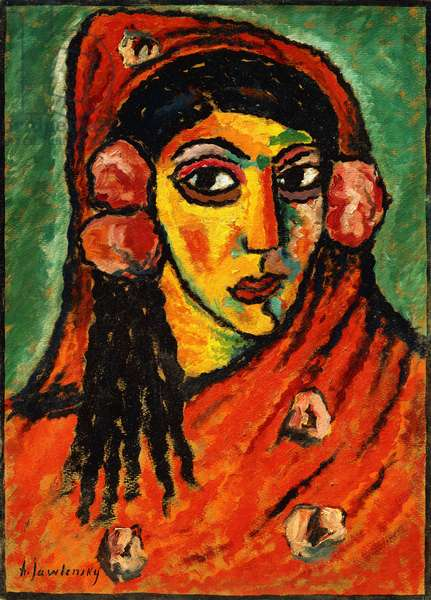 Spanish Girl with a Red Scarf; Spanierin mit rotem Schal, c.1912 (oil on board)