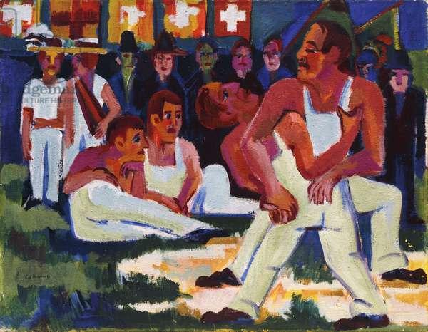 Wrestler; Ringer, 1923 (oil on canvas)