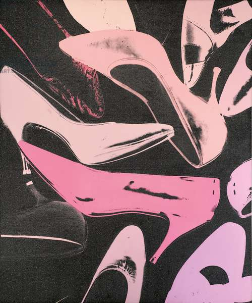 Diamond Dust Shoes, 1980 (synthetic polymer, silkscreen inks and diamond dust on canvas)