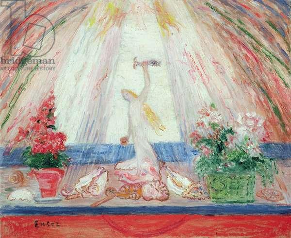 'Fleurs de la Terre, Flore de la mer sous un rire de lumiere' (oil on canvas)