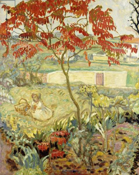 The Garden and the Red Tree; Le Jardin a l'Arbre Rouge, c.1909 (oil on canvas)