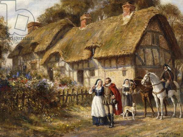 Anne Hathaway's Cottage, 1945 (oil on canvas laid down on board)