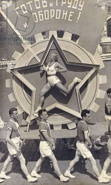 Ready for Work and Defence, Sports Parade, 1938, 1938 (gelatin silver print, with contemporary retouching)