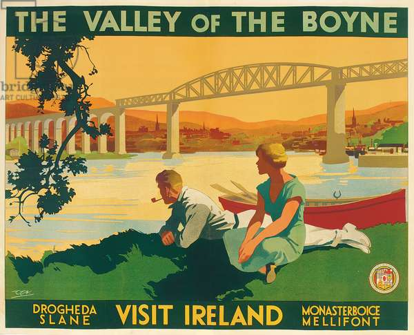 The Valley of the Boyne (colour litho)