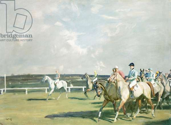 Steeplechasing - Going Down to the Start, c.1936 (oil on canvas)