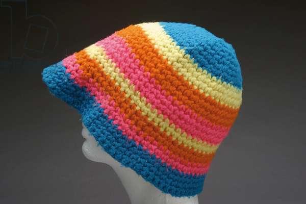 Janis Joplin knit hat, 1960s (wool)