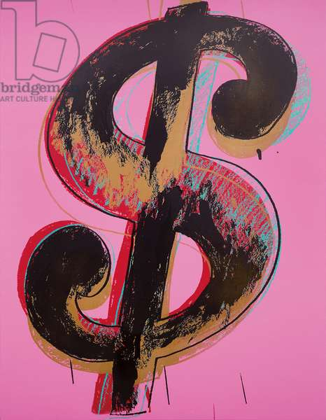 Dollar Sign, 1981 (synthetic polymer and silkscreen ink on canvas)