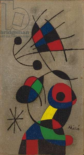 Bird Spreading its Beautiful Plumage, 1952 (oil on canvas)