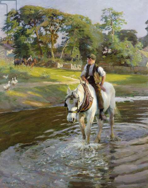 The Close of a Summer's Day, 1909 (oil on canvas)