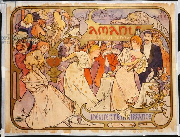 Amants, 1895 (lithograph in colours)