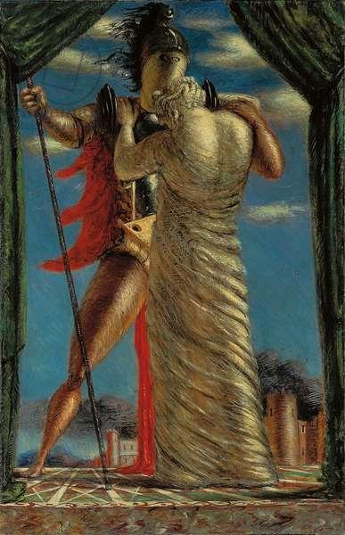 Hector and Andromache; Ettore e Andromaca, 1923 (tempera on canvas)