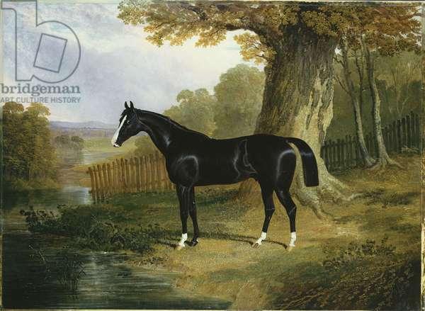 A Dark Hunter in a River Landscape, 1832 (oil on canvas)