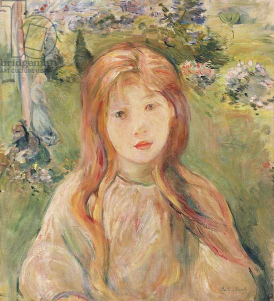 Girl at Mesnil, 1892 (oil on canvas)