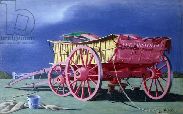 Farm Wagon, 1942 (oil on panel)