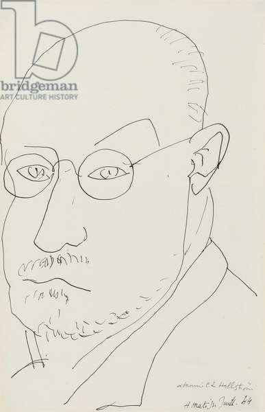 Self Portrait; Autoportrait, 1944 (pen and India ink on paper)