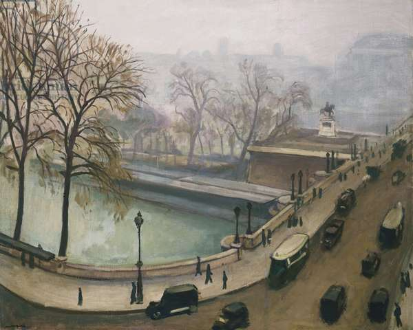 View of the River Seine, c.1935 (oil on canvas)