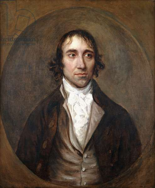 Portrait of John Gainsborough, the Artist's Brother, Bust Length, in a Brown Jacket and Waistcoat and White Stock, (oil on canvas)