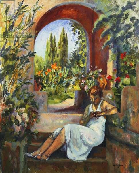 Figure Under the Arch; Figure Sous la Voute, 1923 (oil on canvas)