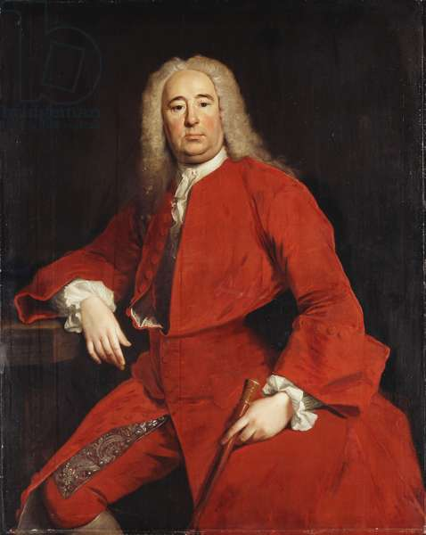 Portrait of a Gentleman, traditionally identified as George Frederick Handel, 1740 (oil on canvas)