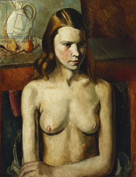 Seated Nude Girl, 1926 (oil on canvas)