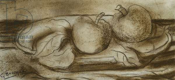 Apples; Les Pommes, 1927 (brown crayon on paper)
