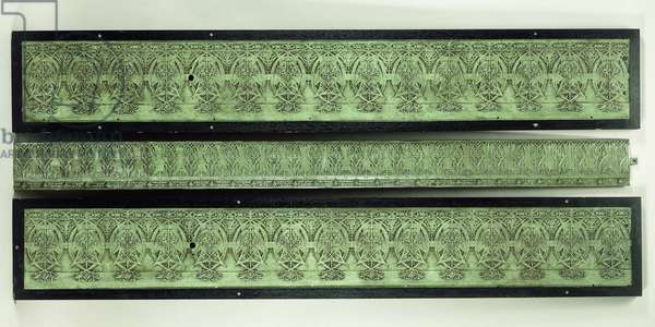 Three frieze panels, 1895-1896 (cast iron)