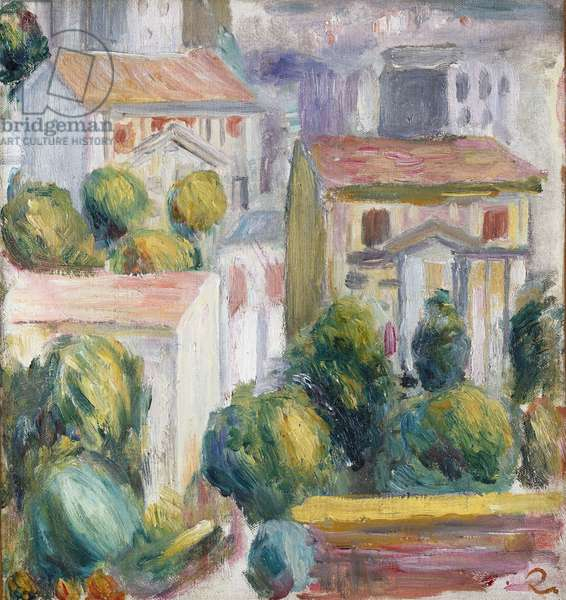 House at Cagnes (oil on canvas)