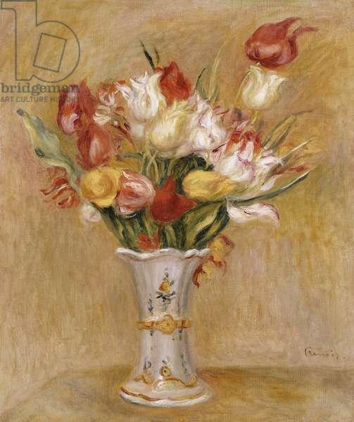 Tulips (oil on canvas)