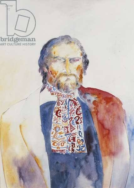 Self-Portrait, 1985 (watercolour and pencil)