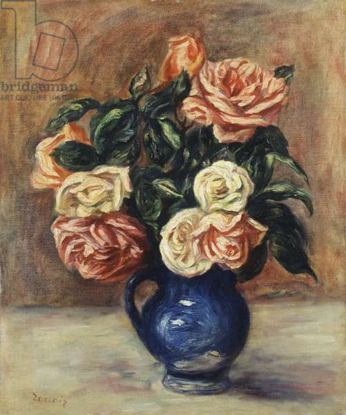 Roses in a Blue Vase, c.1900 (oil on canvas)