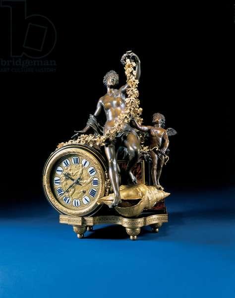 Louis XIV mantel clock, c.1715 (ormolu, bronze, tortoiseshell & ebony)