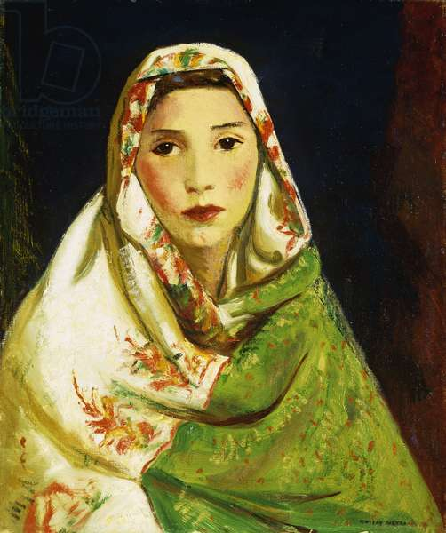 Mexican Girl with Oriental Scarf, 1916 (oil on canvas)