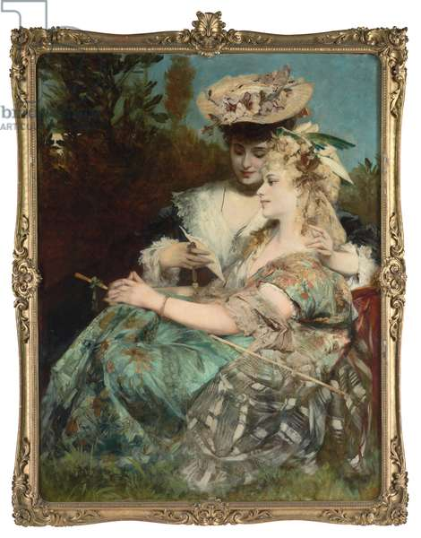 Der Liebesbrief, 1875 (oil on panel)