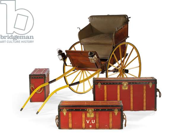 Collapsible Tilbury, by Maison Louis Vuitton and Maison Morel-Grummer, commissioned by Blanche de Clermont-Tonnerre, c.1910 (wood, leather & metal)