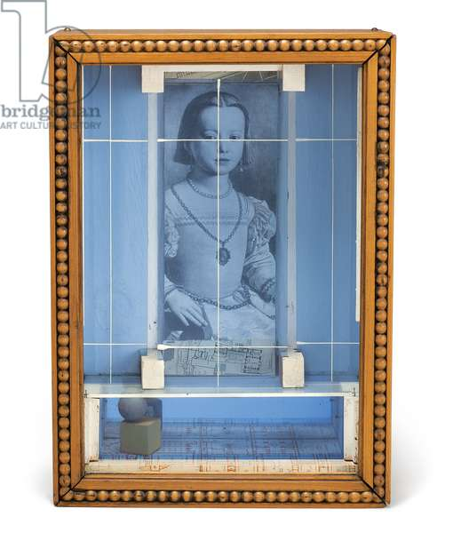Medici Princess, c.1950s (glass, tinted glass, mirror, wood, printed paper collage, paint and nails)