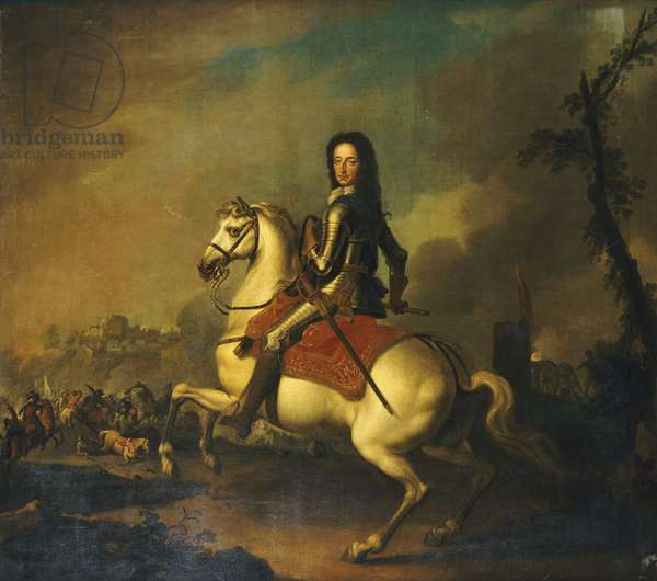 Portrait of King William III at the Battle of the Boyne in 1690 (oil on canvas)