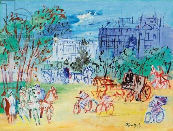 Bois de Boulogne Avenue, c.1948-1950 (oil on canvas)