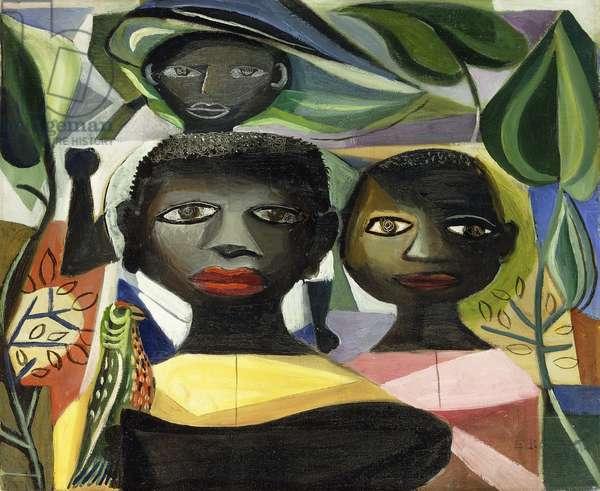 Children,  (oil on canvas)